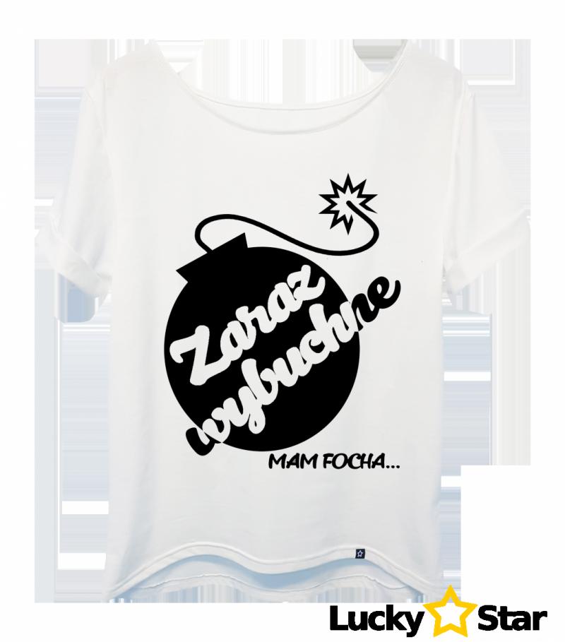 Koszulka Damska oversize Zaraz wybuchnę....