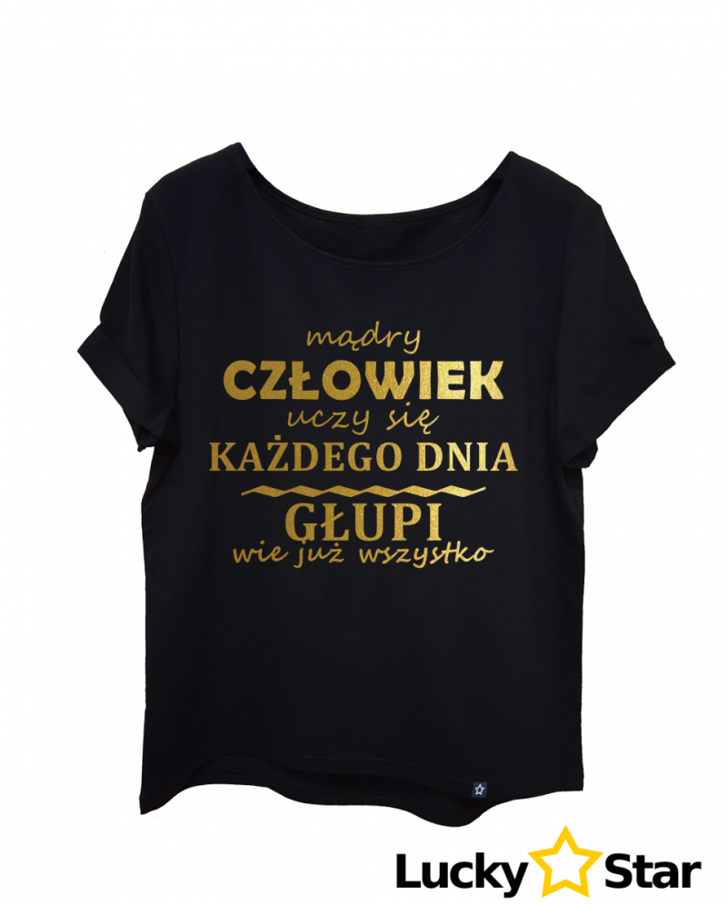 Koszulka Damska Mądry człowiek