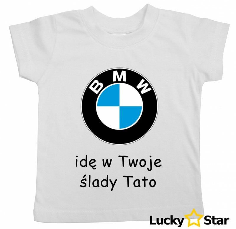 Koszulka dziecięca BMW idę w Twoje ślady Tato