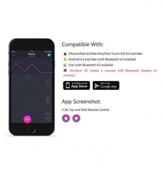 Jajeczko wibrujące sterowane aplikacją Lovense Lush 2