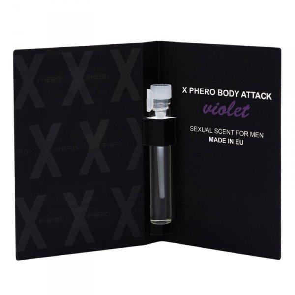 Perfumy X-Phero Body Attack Violet for men, 1 ml