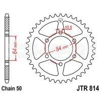 Zębatka tylna stalowa JT 814-44, 44Z, rozmiar 530 2300162 Suzuki GS 400