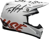 BELL KASK CROSS MOTO-9 FLEX FASTHOUSE  WH/BLACK/RE