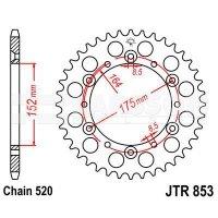 Zębatka tylna stalowa JT 853-51, 51Z, rozmiar 520 2301281 Yamaha TT 600