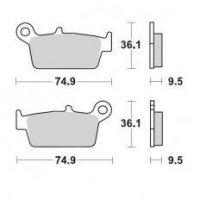 KLOCKI HAMULCOWE KH131 METALICZNE: 12 HONDA: CR 80-125-250-500, XR 250-400-600-650, Kawa  MOTO-MASTER M091812