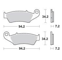 KLOCKI HAMULCOWE KH185 / KH389 NITRO RACING METALICZNE: 22 HONDA: CR 125-250-500, CRF 450, XR 400-600-650R, K MOTO-MASTER M09342
