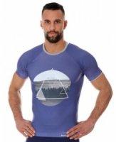 Brubeck SS13240A Koszulka męska City Air fioletowy - Krajobraz