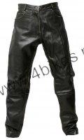 Halvarssons Stonewashed spodnie skórzane męskie