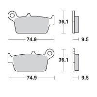 KLOCKI HAMULCOWE KH131 METALICZNE: 11 HONDA: CR 80-125-250-500, XR 250-400-600-650, Kawa MOTO-MASTER M091811