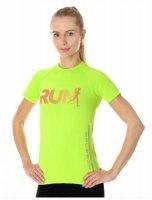 Brubeck SS13270 Koszulka damska Running Air Pro neonowy