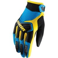 THOR RĘKAWICE YOUTH SPECTRUM BLUE/BLACK/YELLOW =$