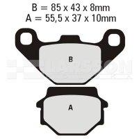 Klocki hamulcowe EBC (2 szt.) FA067HH 4100399 Cectek Quadrift 500, Suzuki GN 125, Kawasaki KLR