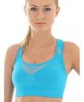 Brubeck CR10070 Crop top FITNESS lazurowy