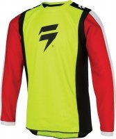 SHIFT  BLUZA OFF-ROAD JUNIOR WHIT3 RACE FLO YELLOW