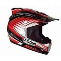 Kask motocyklowy LAZER MX6 Tribal X czarny/czerw