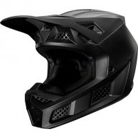 FOX KASK OFF-ROAD V-3 COMPOSITE SOLID MATTE BLACK