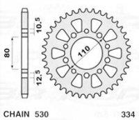 JR ZĘBATKA 334 45 HONDA CBX 550 F 82-86, CBX 750F 84-86 33445JR