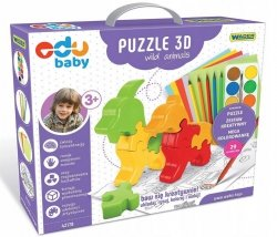 Puzzle 3D Wild Animals EDU BABY WADER 42170