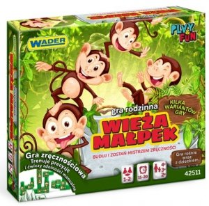 Wieża Małpek gra rodzinna Wader 42511