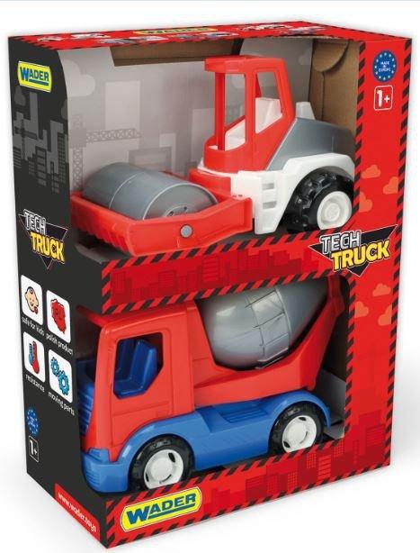 TECH TRUCK auta budowlane set 2 szt. w kartonie WADER 35370
