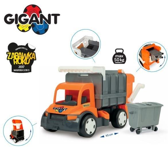 Gigant śmieciarka orange