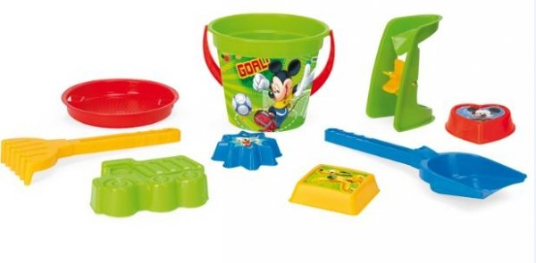 Komplet do piasku 9 el. Mickey Mouse WADER 77235