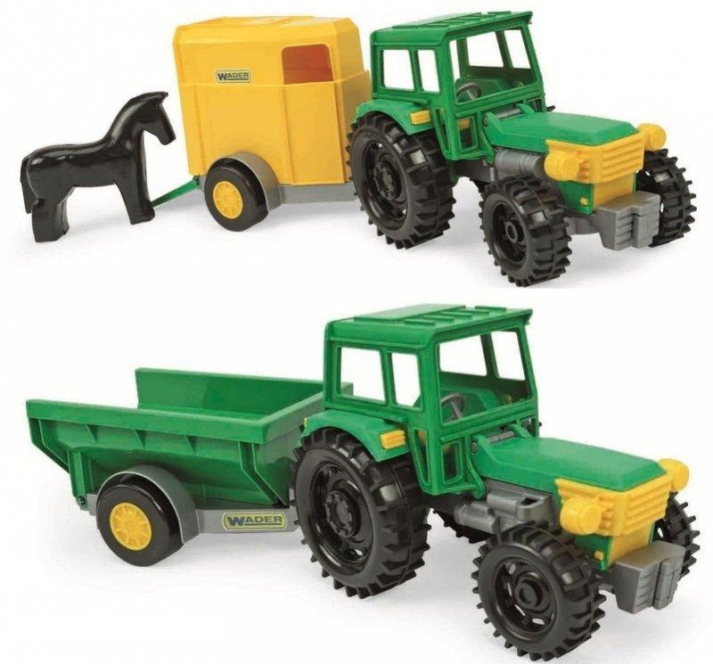 Wader Traktor z przyczepami w kartonie - 35020
