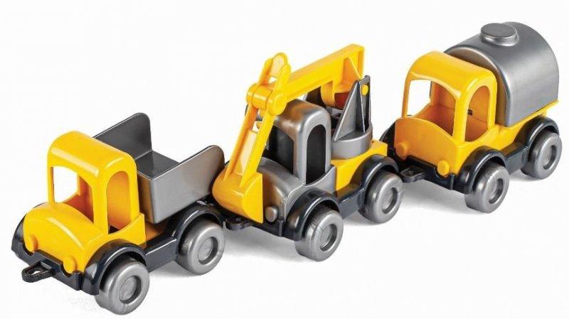 Kid Cars zestaw  POJAZDY BUDOWLANE WADER 60020
