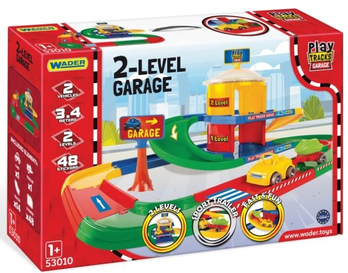 Garaż 2-poziomowy z trasą Wader 53010