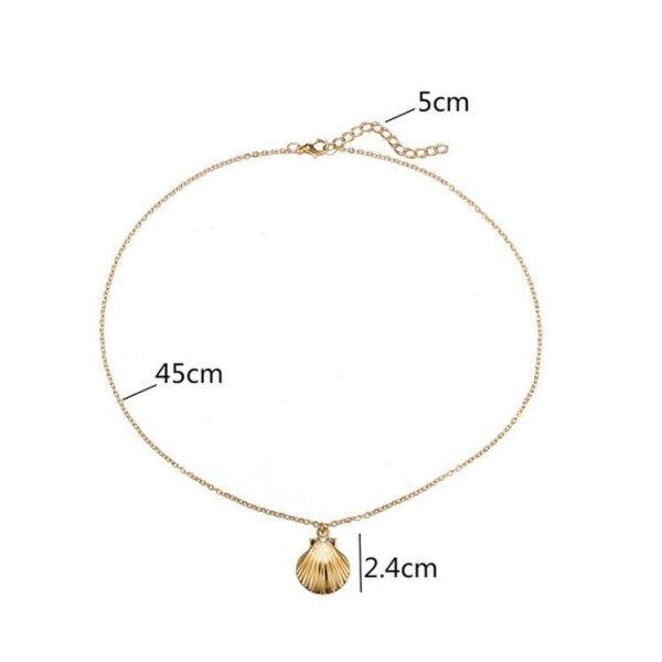 Naszyjnik długi muszelka złoty N658