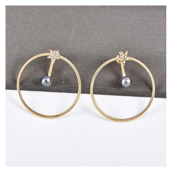 Kolczyki złote przy uchu K1077Z