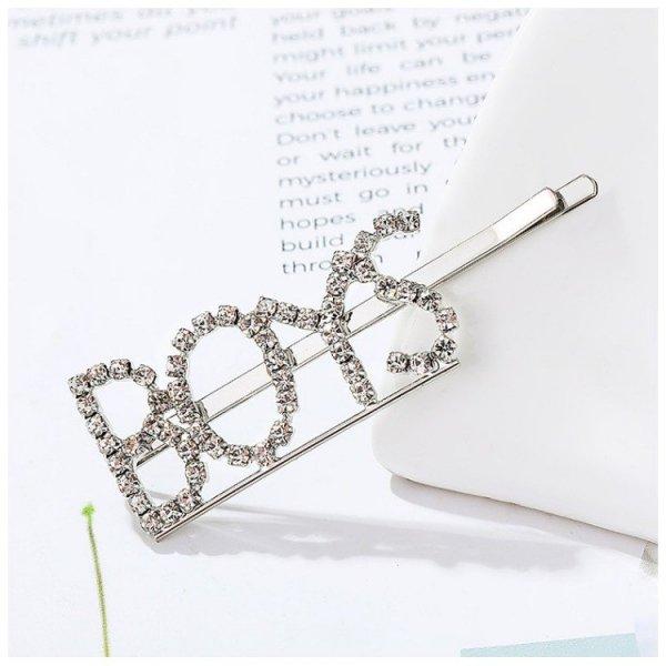 Wsuwka do włosów napis kryształ BOYS SP83S