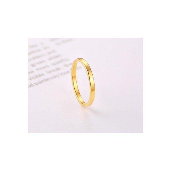 Pierścionek stal chirurgiczna platerowana złotem PST525, Rozmiar pierścionków: US9 EU20
