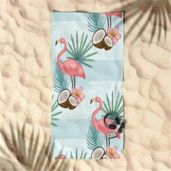 RĘCZNIK PLAŻOWY 170x90 Flamingi i Kokos REC46WZ5
