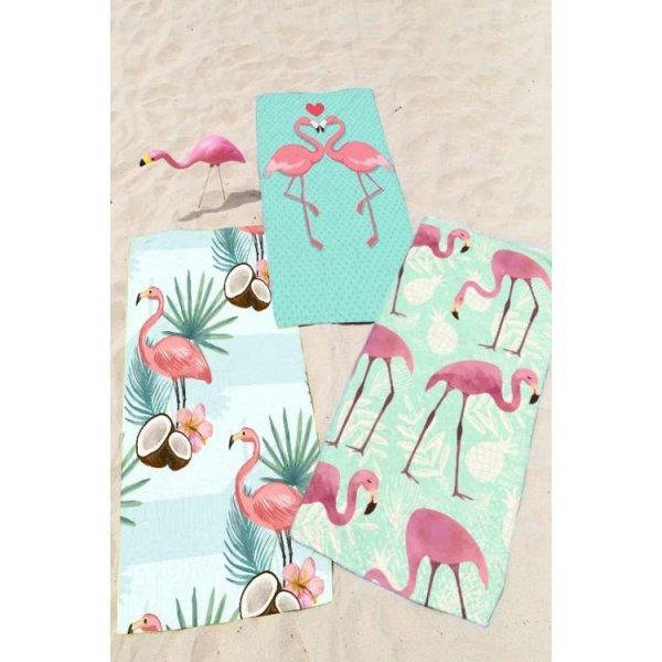 RĘCZNIK PLAŻOWY 170x90 Flamingi REC46WZ10