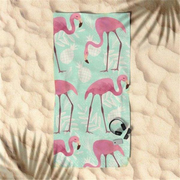 Ręcznik plażowy prostokątny mały 150x70 Flamingi REC45WZ9
