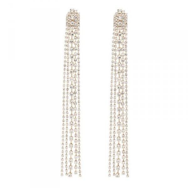 Kolczyki wiszące Dżetowe XXL K1470Z
