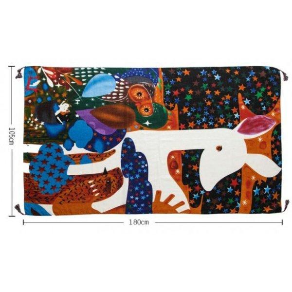 SZAL CHUSTA Print żywe kolory SZALS32