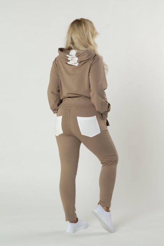 dresowy komplet bluzka i spodnie
