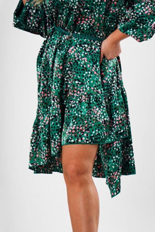 oversize'owa sukienka z bufiastymi rękawami
