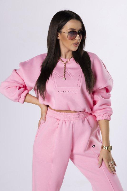komplet dresowy z bluzą crop top