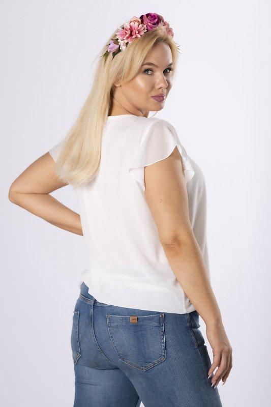 szyfonowa bluzka z falbankami