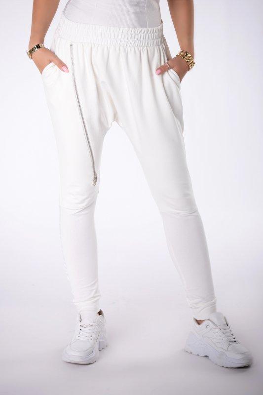 dresowe spodnie z suwakiem