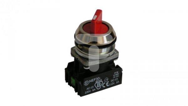Przycisk pokrętny 2 położeniowy pokrętło 30mm czerwony 2Z bez samopowrotuW0-NEF30-TPA 2X C