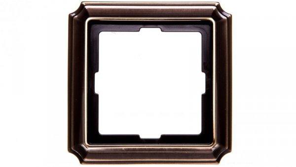 Merten Antique Ramka pojedyncza mosiądz antyk MTN483143