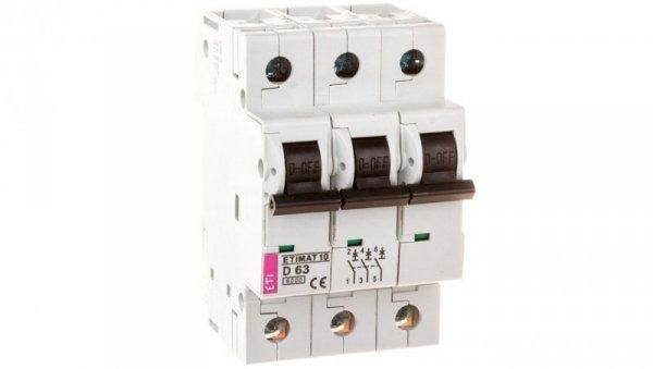 Wyłącznik nadprądowy 3P D 63A 6kA AC ETIMAT10 002155722
