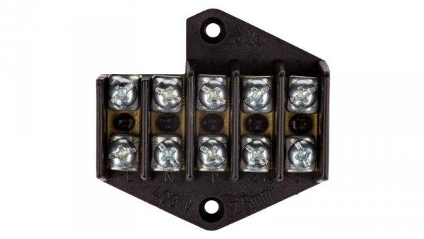 Pierścień rozgałęźny 5x2.5mm2 czarny 0961-00