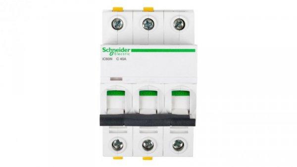 Wyłącznik nadprądowy 3P C 40A 6kA AC iC60N-C40-3 A9F04340