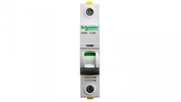 Wyłącznik nadprądowy 1P D 25A 6kA AC iC60N-D25 A9F05125