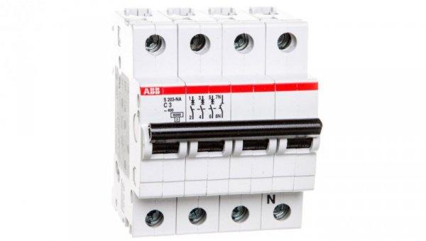 Wyłącznik nadprądowy 3P C 3A 6kA AC S203-C3 NA 2CDS253103R0034